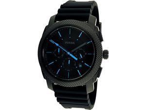 Fossil Mens Machine FS5323 Black Silicone Quartz Fashion Watch
