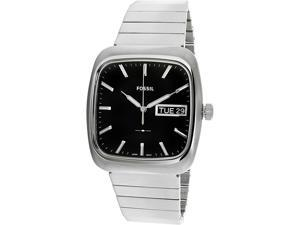 Fossil Mens Rutherford FS5331 Silver Stainless-Steel Quartz Fashion Watch