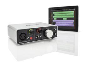 Focusrite iTrack Solo – for your iPad.  iTrack Solo provides the best solution for recording your instruments and vocals using an iPad. Featuring a Focusrite microphone pre-amplifier.