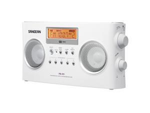 Sangean FM-Stereo RDS (RBDS) / AM Digital Tuning Portable Receiver- White