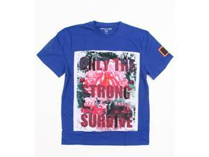 Blac Label Navy Blue Crew Neck Surf The Web Fashion T shirts