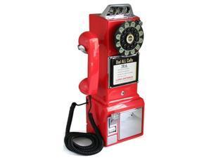 1950 Retro Classic Pay Phone Telephone- Red