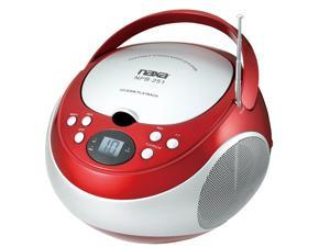 Naxa Portable CD Player with AM/FM Red