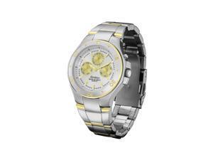 Mens Armitron 20/4394SVTT Silver Dial Two Tone Bracelet Style Sport Watch