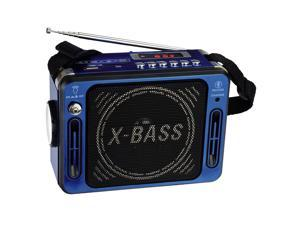 QFX Karaoke Multimedia Speaker with FM Radio- Blue