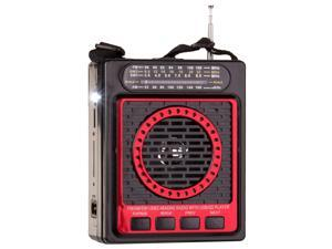 QFX Portable PA System with USB/SD and AM/FM/SW1-2 Radio-RED