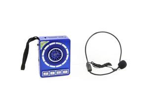 QFX Portable PA System with USB/MICRO-SD, FM Radio- Blue