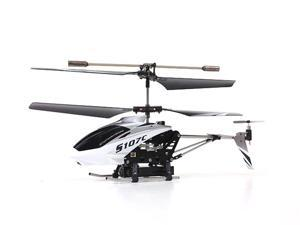 Syma S107C 3-Channel RC Helicopter with Camera - Silver