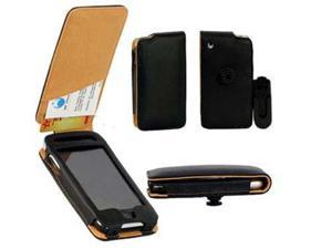 Black Leather Pouch Case Cover Holster with Belt Clip for Apple iPhone 4/4S, iPhone 3G, iPhone 3G S, iPod Touch, iPod Classic, BlackBerry Pearl 8100, Palm TREO PRO