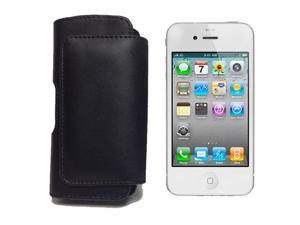 Black Leather Pouch Case Cover Holster with Belt Clip for Apple iPhone 5, LG Voyager, T-Mobile G1, HTC Dream, Treo 800W, ...