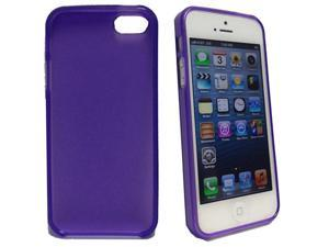 Thin Clear Purple TPU Case Cover Rubber Skin for Apple iPhone 5 5G 5th Generation Protection Guard