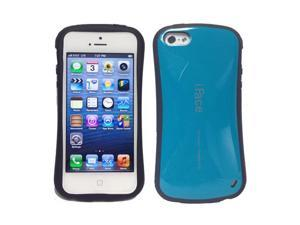 iFace Aqua Blue Hard Rubberized Shock Absorber Case Cover for Newest iPhone 5 5G 5th Generation
