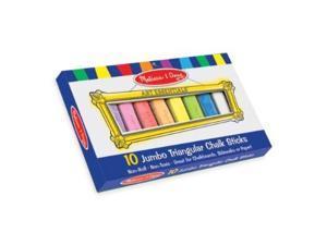 Melissa and Doug 10 Jumbo Triangular Chalk Sticks