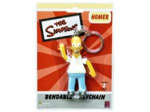 The Simpsons Homer Simpson Bendable Keychain