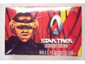 Star Trek Rules of Aquisition Collectible Card Game Booster Box