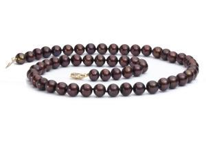 """The Pearl Outlet FNCH8AAA 14K 18"""" AAA Chocolate Freshwater Pearl Necklace"""