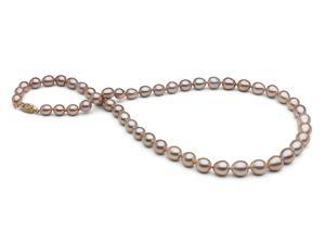 The Pearl Outlet Lustére Collection - Handpicked 5.5-8.5mm Iridescent Lavender Pearls with Metallic Luster