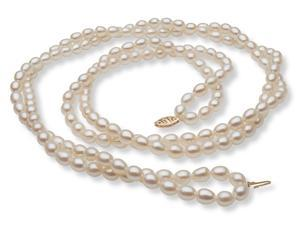 "The Pearl Outlet 14K 24"" Two-Strand Freshwater Pearl Necklace"