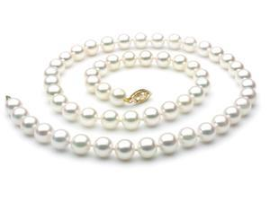 Japanese Akoya Saltwater Pearl Necklace 7.5mm AAA Quality 18 inch