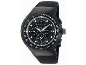 Seiko SNAD63 Men's Streamline Chronograph Black Ion Plated Alarm Watch