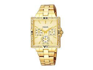 Pulsar Crystal Collection Gold-tone Bracelet Champagne Dial Women's watch #PYR048