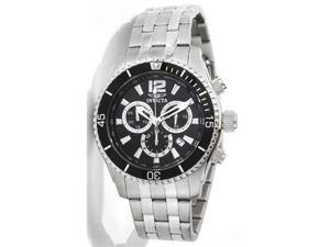 Invicta 0621 Men's Stainless Steel Black Dial Chronograph