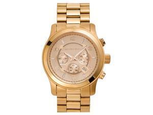 Michael Kors MK8096 Runway Chronograph Rose Gold-Tone Unisex Watch