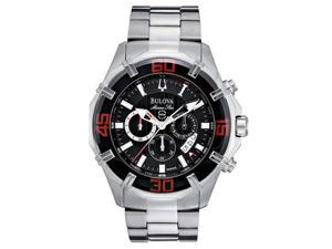Bulova Marine Star Chrono Black Dial Men's watch #96B154