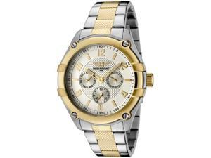 I by Invicta 43659-002 Men's Watch, Two-Tone Textured Stainless Steel Silver-Tone Textured Dial