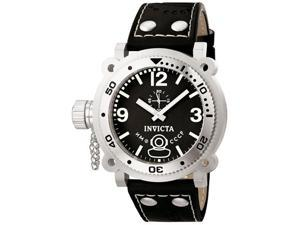 Invicta 7275 Men's Lefty Russian Divers Black Dial Brown Leather Strap Watch
