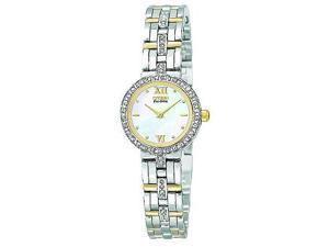 Citizen Eco-Drive Silhouette Crystal Mother-of-pearl Dial Women's watch #EW9124-55D