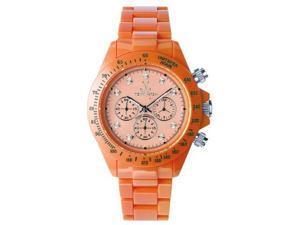 Toy FL12OR Women's Orange Plasteramic Chronograph Watch