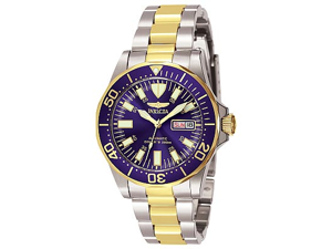 Invicta Sapphire Diver Two Tone Stainless Steel Mens Watch 7046