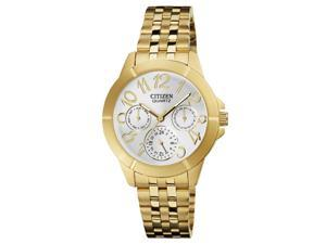 Citizen ED8102-56A Women's Quartz Silver Dial Gold Plated Steel Bracelet Watch