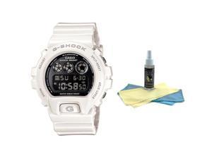 Casio DW6900NB-7 Men's G-Shock White Resin 200M WR Alarm Watch with 30ml Ultimat