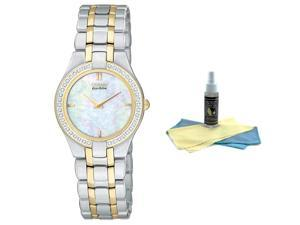 Citizen EG3154-51D Women's Eco-Drive MOP Dial Diamond Watch with 30ml Ultimate W
