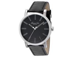 Kenneth Cole KC1997 Men's New York Slim Black Dial Black Leather Strap Watch