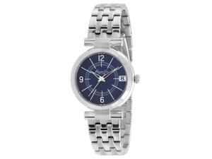 Kenneth Cole Women's KC4868 Silver Stainless-Steel Quartz Watch with Blue Dial