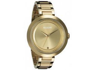 Nixon A264502 Women's Optique Gold Tone Dial Gold Plated Stainless Steel Watch