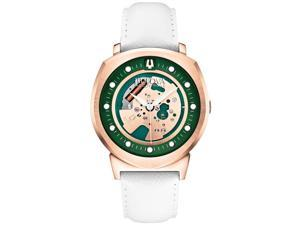Bulova 97A111 Men's Accutron II Alpha 2014 Green & Rose Gold Dial White Leather