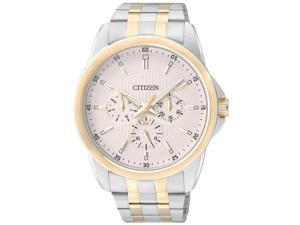 Citizen AG8344-57A Men's Beige Dial Two Tone Steel Multi-Function Watch