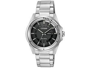 Citizen AW0031-52E Men's HTM Eco-Drive Sport Black Dial Stainless Steel Bracelet
