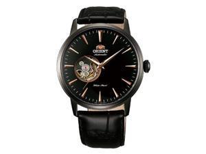 Orient FDB08002B Men's Esteem Black Ion Plated Semi Skeleton Automatic Watch