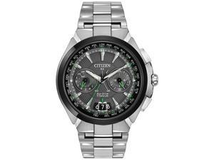 Citizen CC1084-63E Men's Eco-Drive Satellite Wave World time Grey Dial Steel Bra