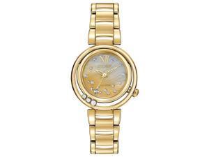 Citizen EM0322-53Y Women's Sunrise MOP Dial Gold Tone Steel Bracelet Diamond Wat
