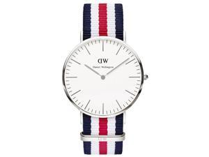 Daniel Wellington 0202DW Men's Classic Canterbury White Dial Nylon Strap Watch