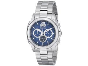 Bulova 96B219 Men's Classic Stainless Steel Bracelet Chronograph Watch with Blue Dial