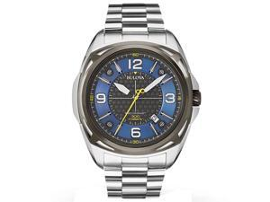 Bulova 98B224 Men's Precisionist Blue & Grey Dial Stainless Steel Bracelet Dive