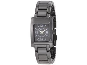ESQ by Movado Venture Black Dial Black Ceramic Ladies Watch 07101386