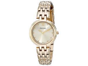 Pulsar PH8126 Women's Business Gold Tone Dial Yellow Gold Steel Bracelet Watch